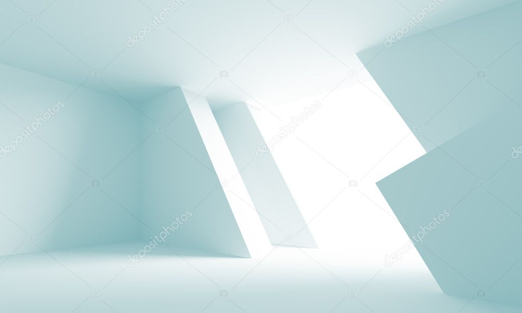 3d Illustration of Blue Futuristic Architecture Background — Stock Photo #5690536