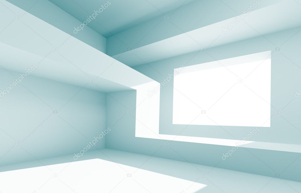 3d Illustration of Blue Creative Interior Design — Stock Photo #6457425
