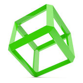 Green Cube — Stock Photo