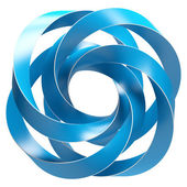 Blue Abstract Shape — Stock Photo