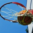 Stock Photo: Basketball swish