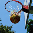Basketball swish — Stock Photo