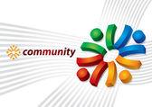 Community concept — Stock Vector