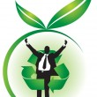 Environmentally friendly business — Image vectorielle