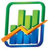 Graph with arrows — Stock Vector