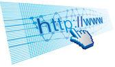 Internet utilization — Stock Vector