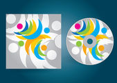 CD or DVD cover — Stock Vector