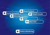 Online marketing — Stock Vector