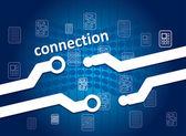 Bağlantı kavramı — Stok Vektör