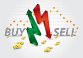Stock exchange charts — Stock Vector
