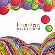 Vector fashion background with ??knitting and buttons - Stock Vector