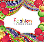 Vector fashion background with ??knitting and buttons — Stock Vector