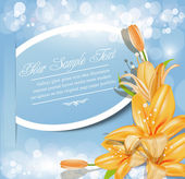 Holiday abstract vector background with flowers — Stock Vector