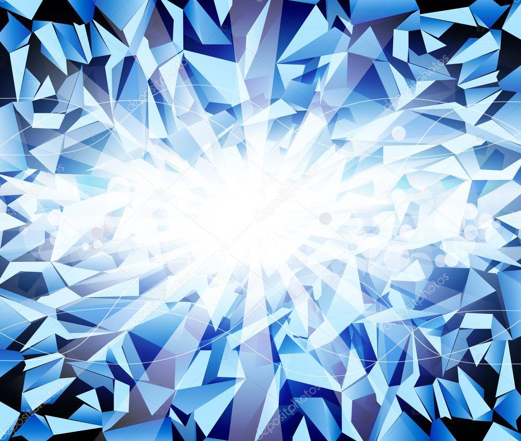 Vector ice dark-blue background — Stock Vector © Alkestida ...