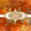Royalty-Free Stock Vector Image: Vector grungy background autumn congratulatory with maple leaves