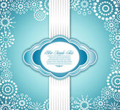 Vector blue holiday greeting background — Stock Vector