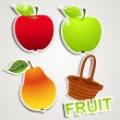 Vector set of icons: fruits — Stock Vector