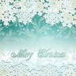 Vector emerald festive background with snowflakes — Stock Vector