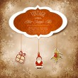 Royalty-Free Stock Imagen vectorial: Vintage, grungy New Year, Christmas background