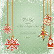 Vintage, grungy New Year, Christmas background — Stock Vector #6550334
