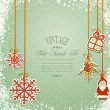 Stock Vector: Vintage, grungy New Year, Christmas background