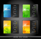 Vector calendario 2012, con cuatro estaciones — Vector de stock