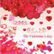 Background with hearts — Stock Vector #5788347