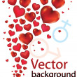 Background with hearts — Imagen vectorial