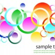 Stock Vector: Abstract colorful background