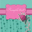 Royalty-Free Stock Vektorgrafik: Floral greeting card - with place for your text or photo