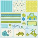 elementi di design per bambino scrapbook — Vettoriale Stock