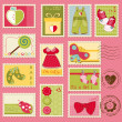 Baby Girl Postage Stamps - 
