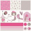 Royalty-Free Stock Vector Image: Bird House Design Elements