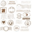 Vector stamp set collection — Stock Vector #6065780