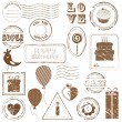 Royalty-Free Stock Imagem Vetorial: Birthday Vector Stamp Set