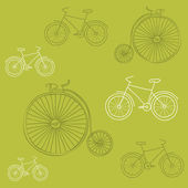 Seamless background with Retro Bicycles - for design and scrapbo — Stock Vector
