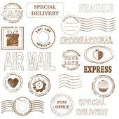 Collection de jeu de timbre vecteur — Vecteur