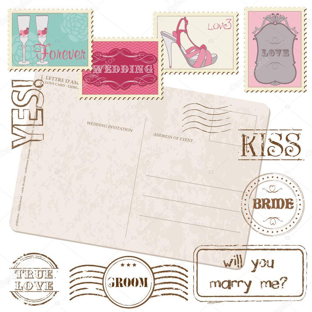 марка открытки: