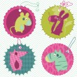 Stock Vector: Design elements for baby scrapbook