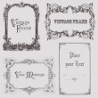 Vintage frames and design elements - with place for your text — Vettoriali Stock