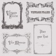 Vintage frames and design elements - with place for your text — Stock Vector #6070587