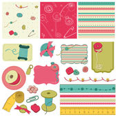 Sewing kit - design elements for scrapbooking — Stock Vector