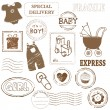 Stock Vector: Baby Vector stamp collection