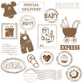 Baby Vector stamp collection — Stock Vector