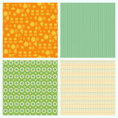 Set of seamless backgrounds for Scrapbook and design — Stock Vector