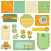 Baby Scrap with Bee — Stock Vector