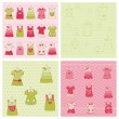 Seamless background Collection - Baby Girl Dress — Stock Vector