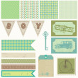 Royalty-Free Stock Vector Image: Scrapbook design elements - Vintage Boy Set