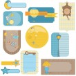Design elements for baby scrapbook - sweet dreams cute tags — Stock Vector