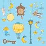 Sweet Dreams - Design Elements for baby scrapbook — Stock Vector